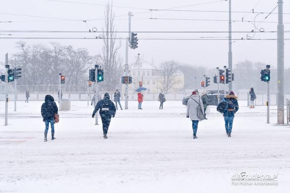 Śnieżyca w Poznaniu