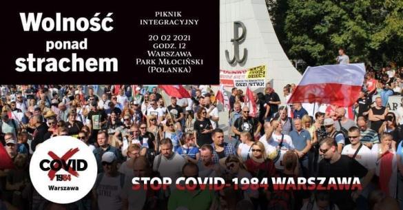 Wolność ponad strachem - manifestacja w Warszawie