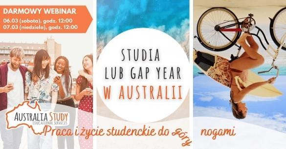 """Webinar """"STUDIA lub GAP YEAR W AUSTRALII!?"""""""