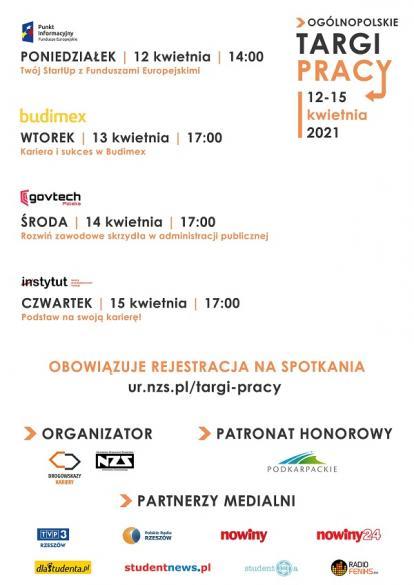 Targi Pracy organizowane przez Niezależne Zrzeszenie Studentów Uniwersytetu Rzeszowskiego