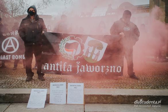Walcz z wirusem kapitalizmu - manifestacja we Wrocławiu