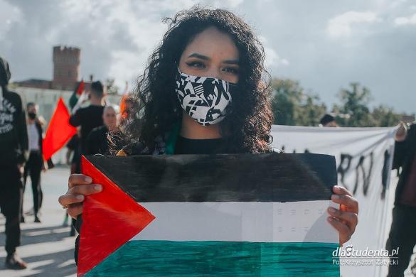 Wolna Palestyna - manifestacja we Wrocławiu