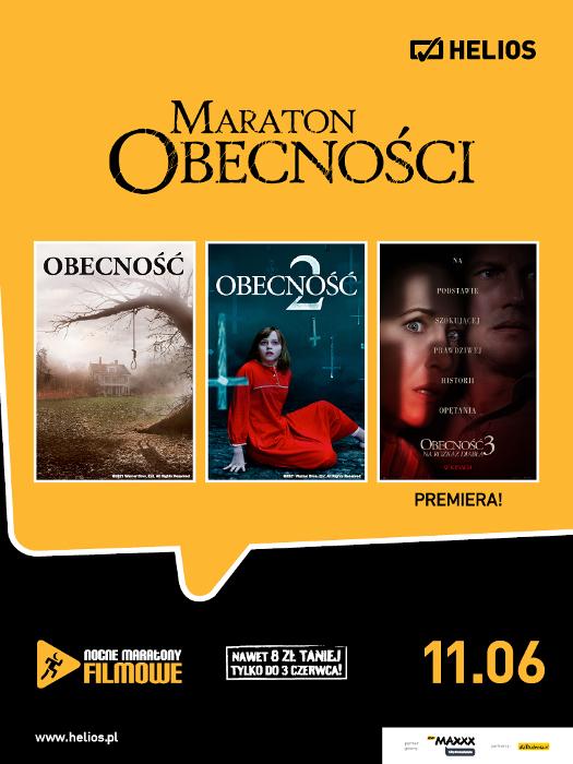 """Nocne maratony filmowe: Maraton """"Obecności"""" w Heliosie"""