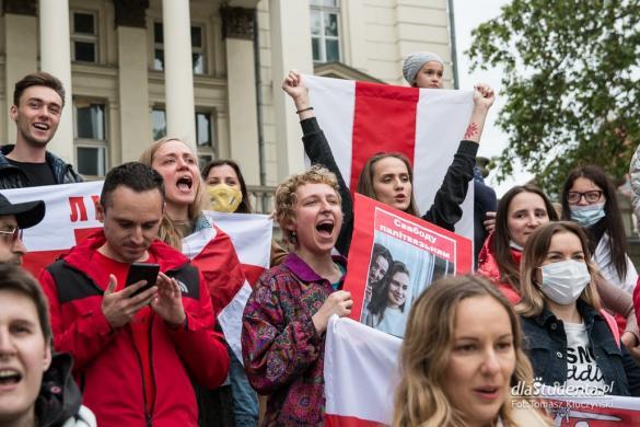 Krzyk dla Białorusi - manifestacja w Poznaniu