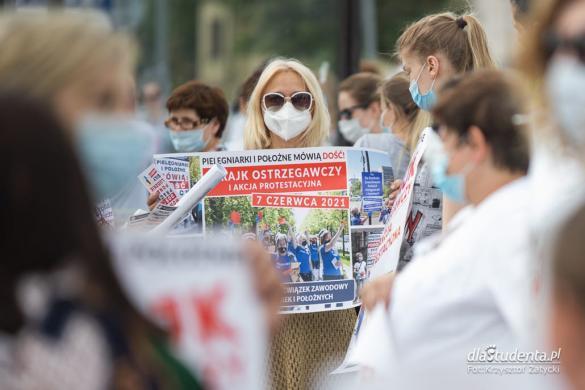 Protest pielęgniarek we Wrocławiu