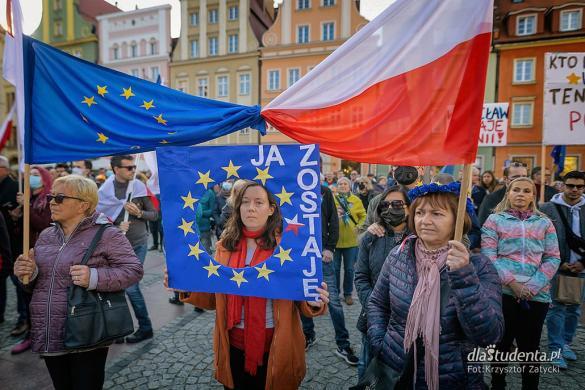 My zostajemy w Europie - demonstracja we Wrocławiu