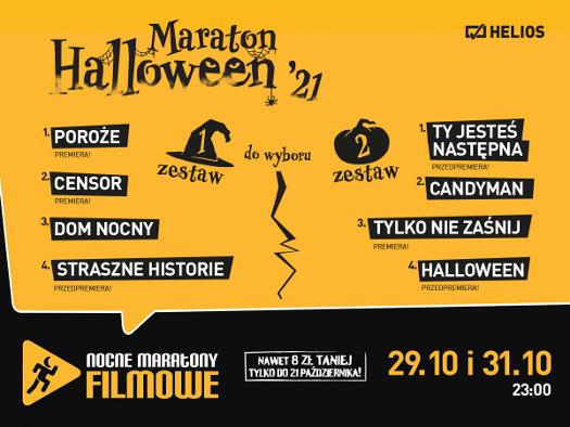 Maraton Halloween 2021 w Heliosie - 2 zestawy do wyboru