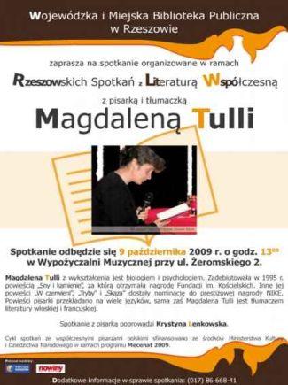 Spotkanie z Magdaleną Tulli