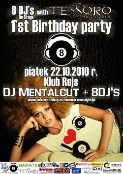 8djs on stage with Tessoro: 1st Birthday Party