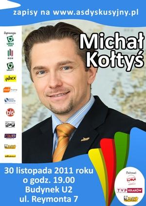 Michał Kołtyś na Akademickim Salonie Dyskusyjnym