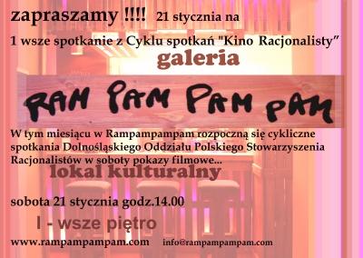 Kino Racjonalisty w RAM PAM PAM PAM!