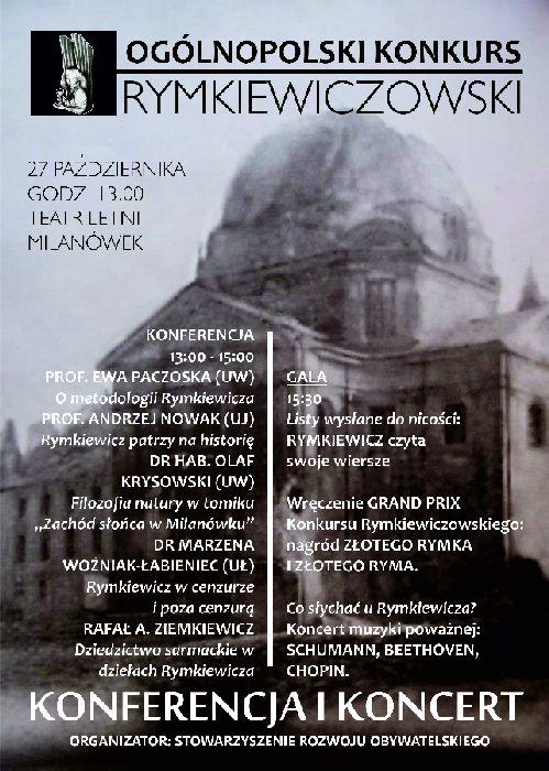 Konkurs Rymkiewiczowski - gala i konferencja