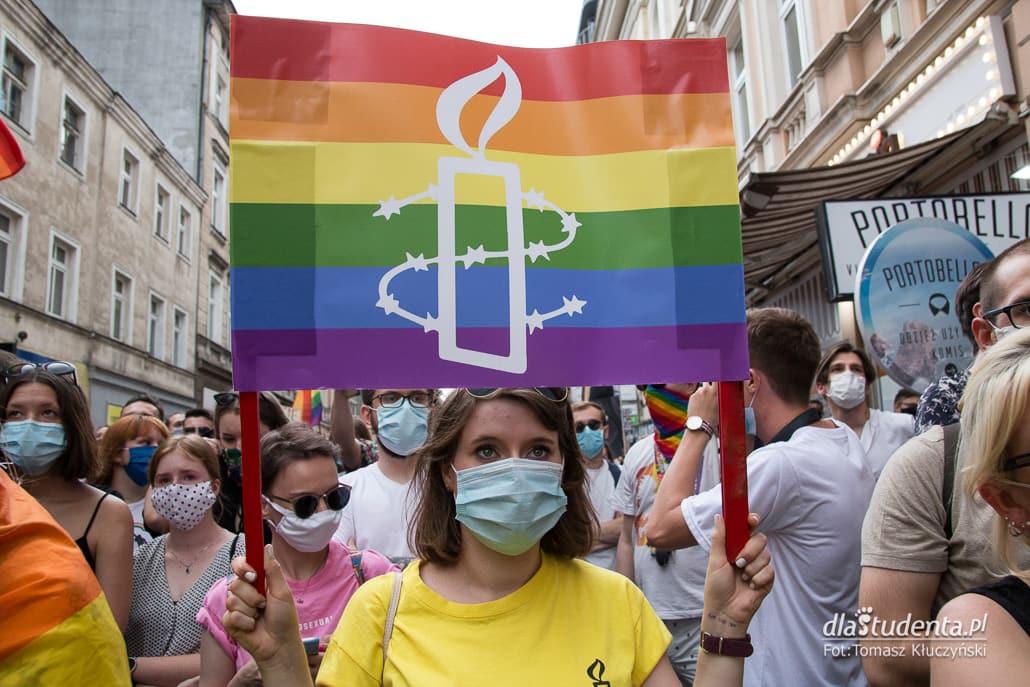 Poznań broni tęczy - manifestacja w obronie LGBT