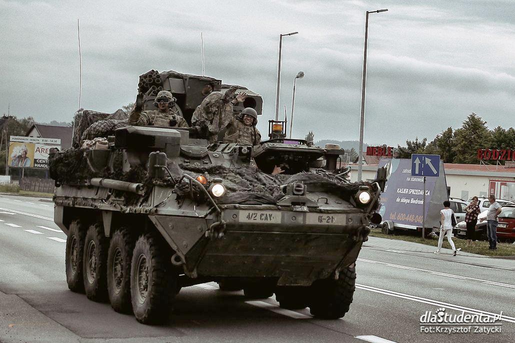 Wojska amerykańskie na ćwiczeniach Saber Strike'18 w Polsce