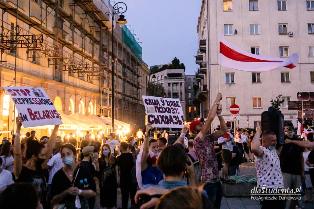 Wolność dla Białorusi - demonstracja w Warszawie - zdjęcie nr 1533619