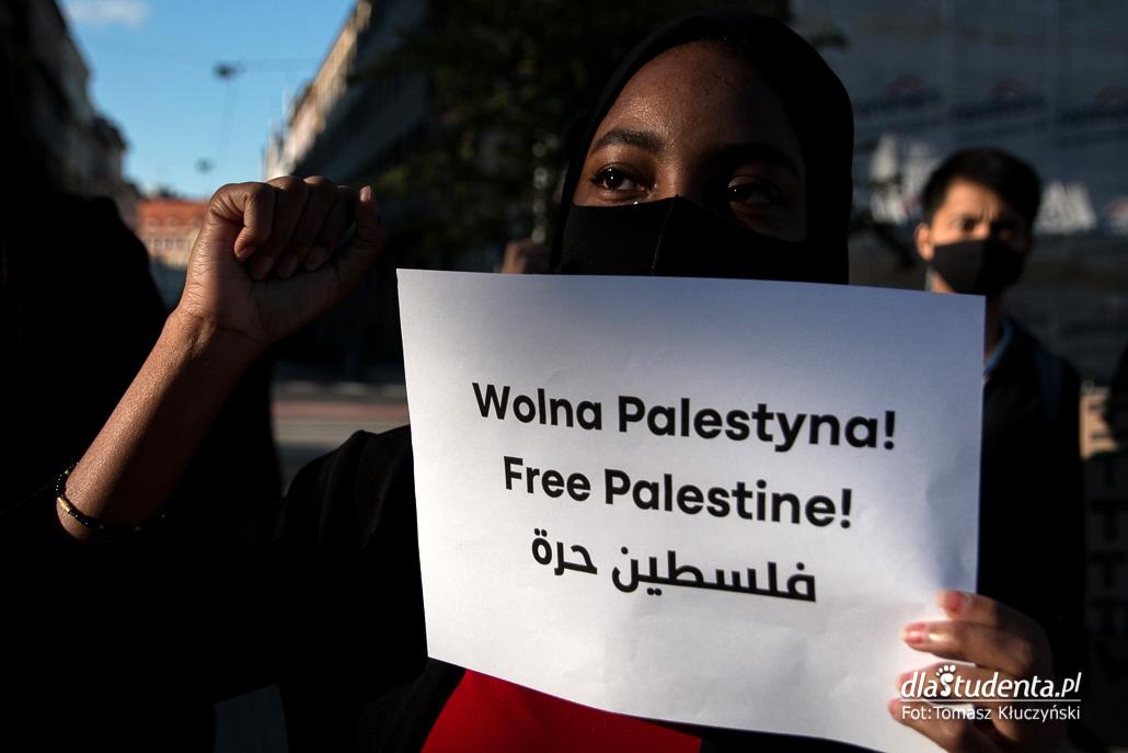 Solidarnie z Palestyną - manifestacja w Poznaniu