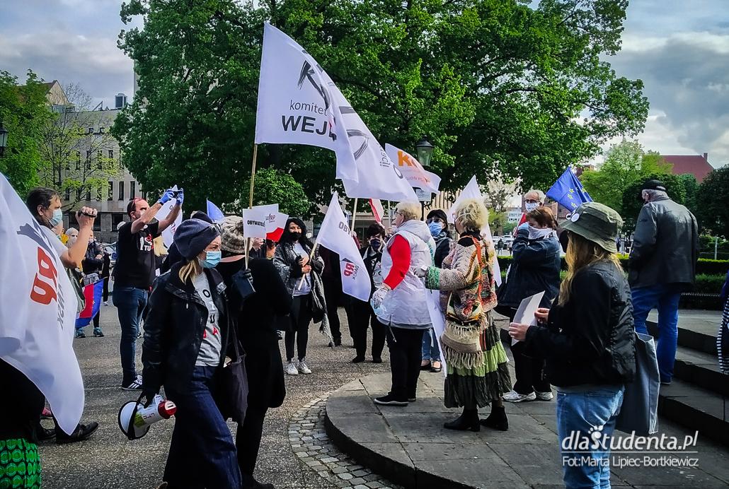 Protest w obronie demokracji w Gdańsku