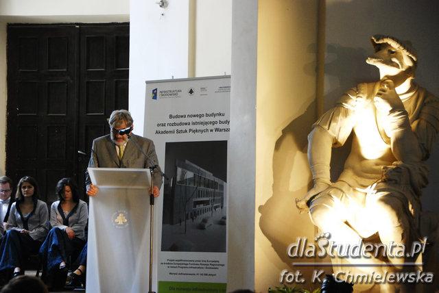 Inauguracja budowy nowego budynku ASP