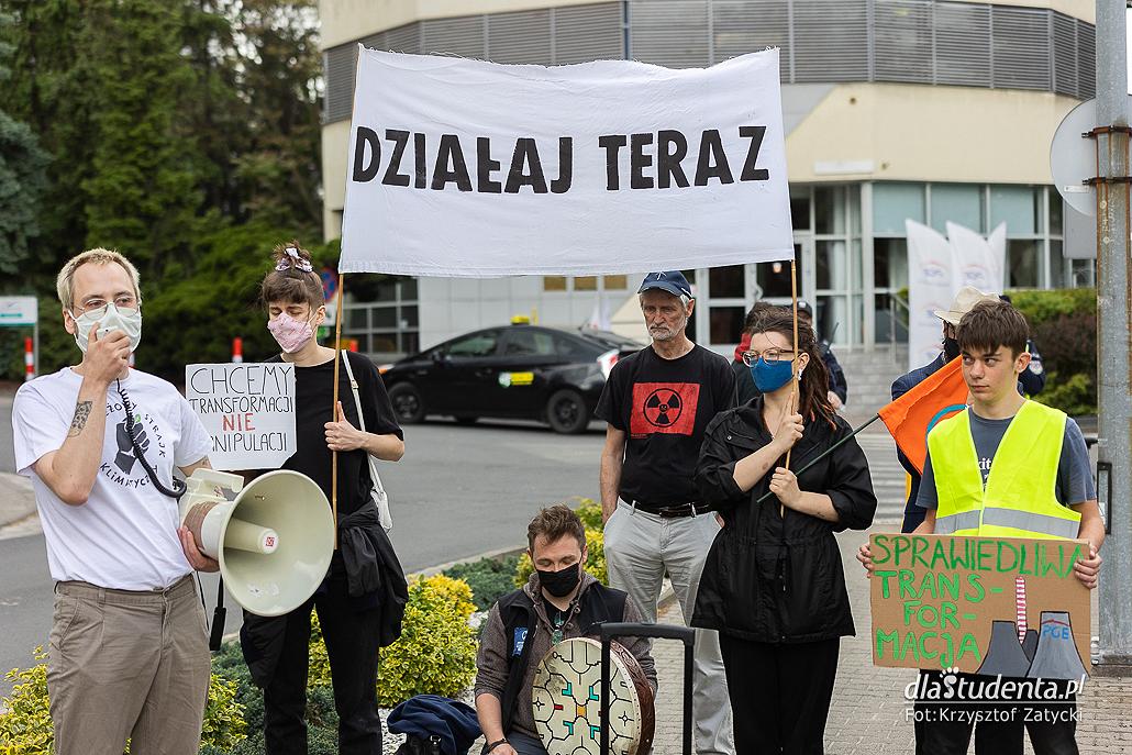 Chcemy sprawiedliwej transformacji, a nie węglowej manipulacj - protest we Wrocławiu