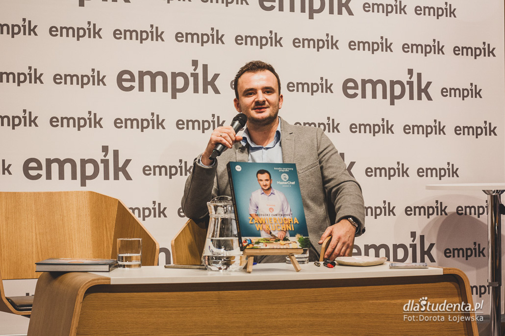 Grzegorz Zawierucha - polski MasterChef - spotkanie autorskie