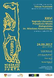 Uroczystość wręczenia 26. Nagrody Literackiej Prezydenta Miasta Białegostoku