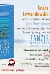 Beata Lewandowska-Kaftan zaprasza na Zanzibar