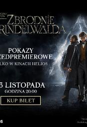 Fantastyczne Zwierzęta: Zbrodnie Grindelwalda - przedpremiera w Heliosie