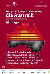 Artyści Opery Krakowskiej dla Australii - koncert charytatywny