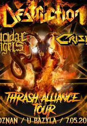 Destruction, Suicidal Angels, Crisix