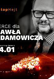 Zapłonęło serce dla Pawła Adamowicza w Warszawie