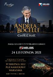 Andrea Bocelli w kinach Helios - koncert One night in Central Park