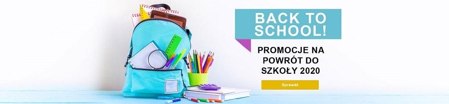 Baner infomrujący o promocjach na rok szkolny 2020/2021
