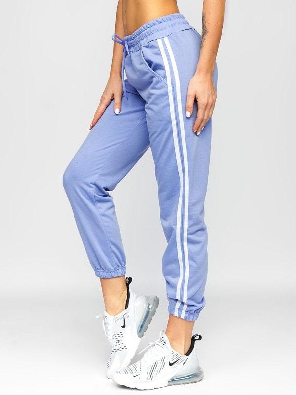 Fioletowe spodnie dresowe damskie