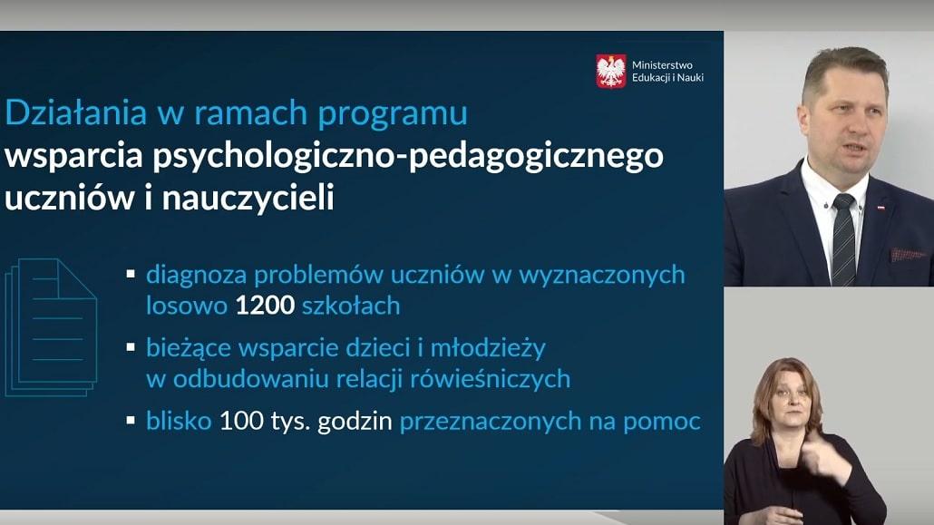 Telefon zaufania Ministra Czarnka. Całodobowa infolinia dla dzieci, młodzieży, rodziców i pedagogów.