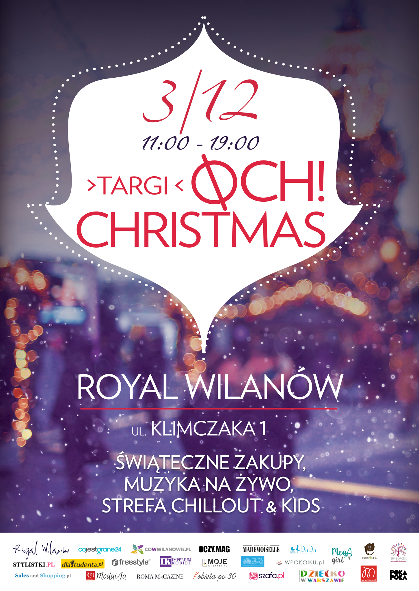 OCH! CHRISTMAS targi w Royal Wilanów już 3 grudnia
