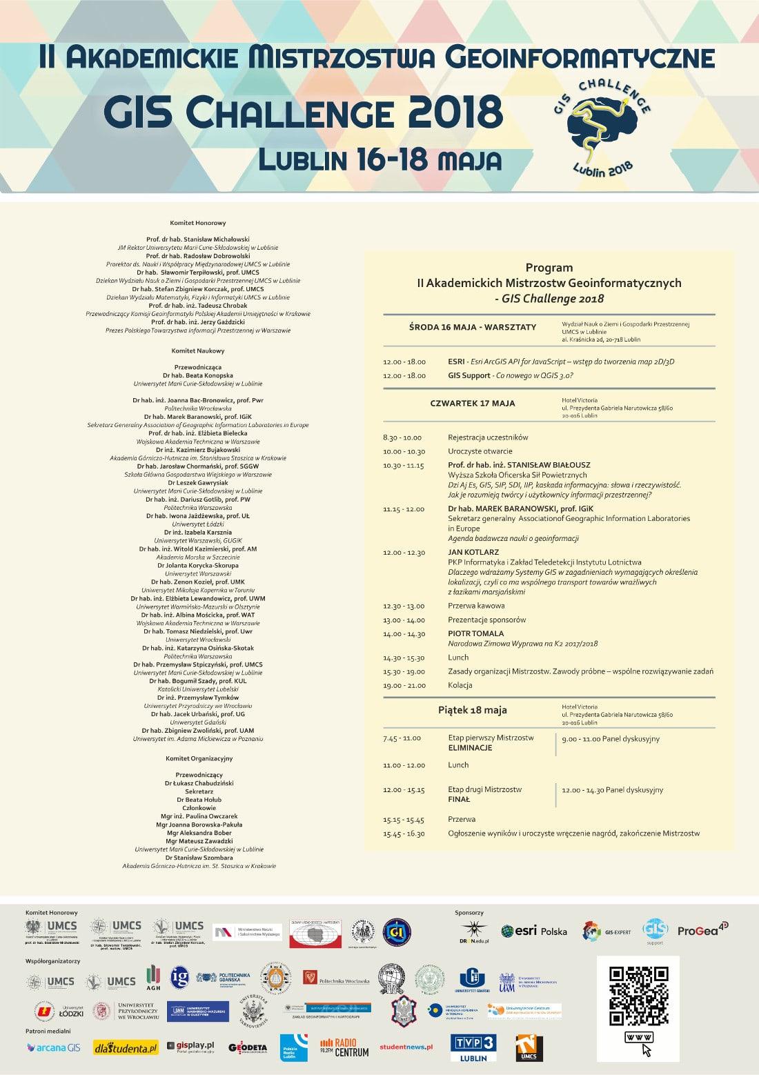 Akademickie Mistrzostwa Geoinformatyczne odbędą się w dniach 16-18 maja 2018 roku.