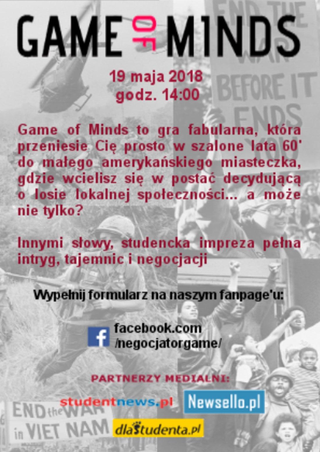 Impreza dla studentów odbędzie się 19 maja 2018 roku.