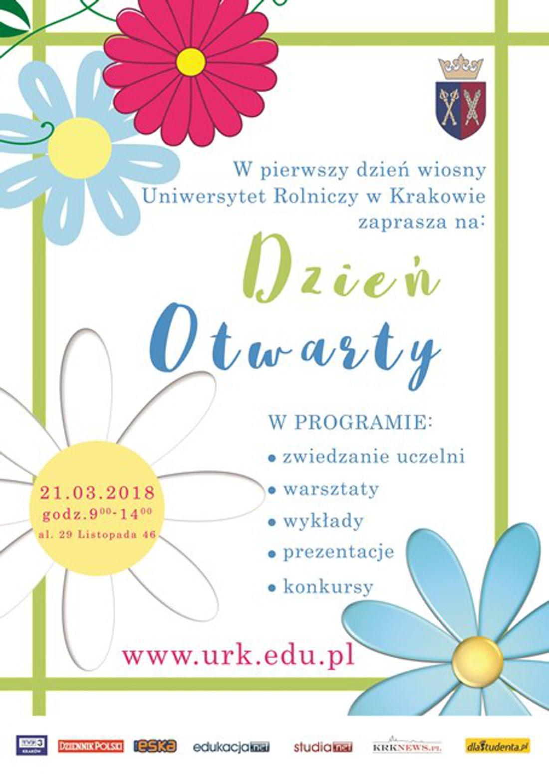 Dzień Otwarty odbędzie się 21 marca 2018 roku.