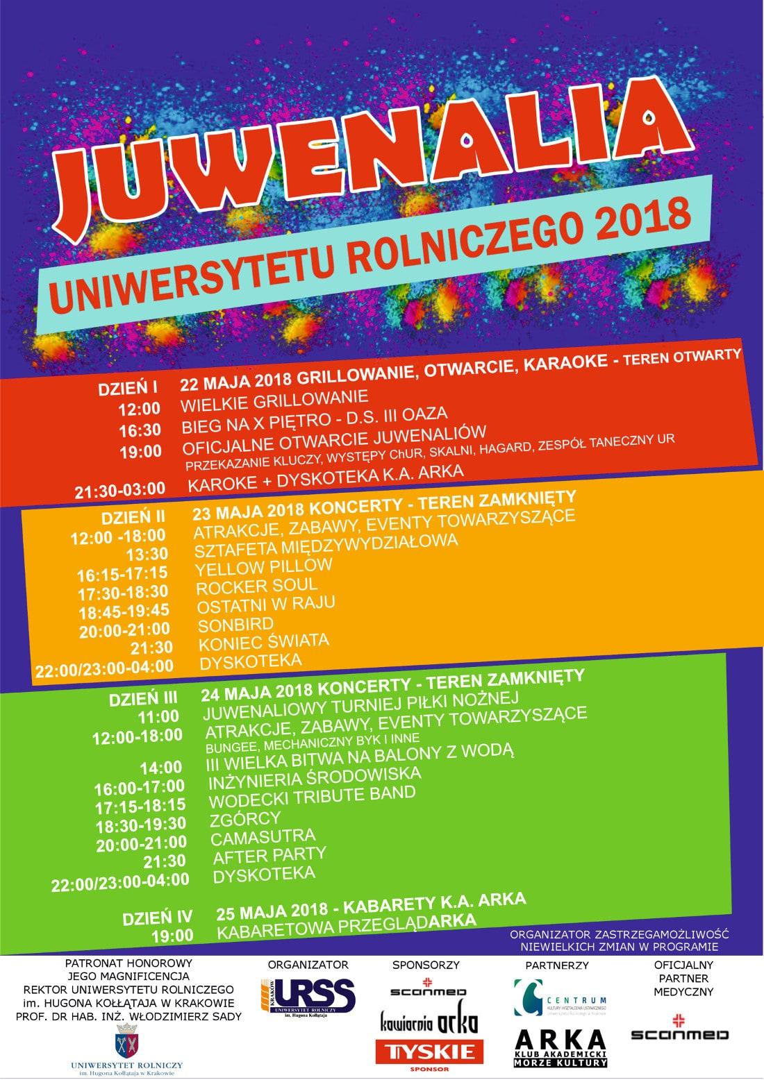 Juwenalia UR odbędą się w dniach 22-25 maja.