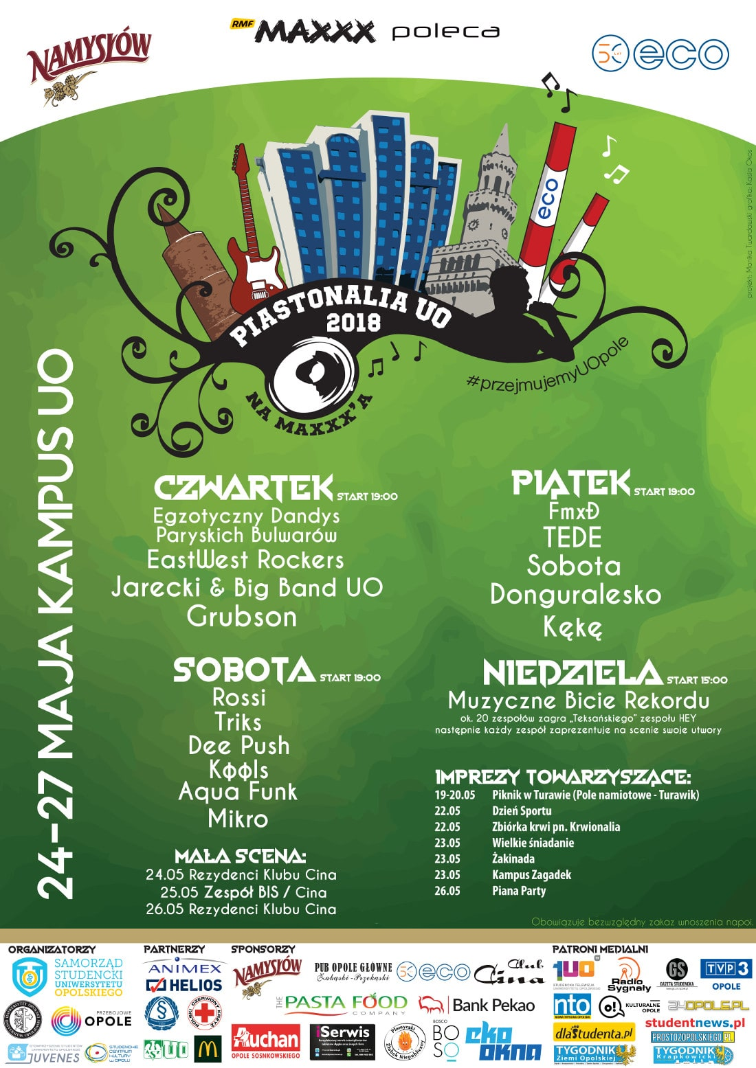 Zobacz harmonogram Juwenaliów w Opolu!