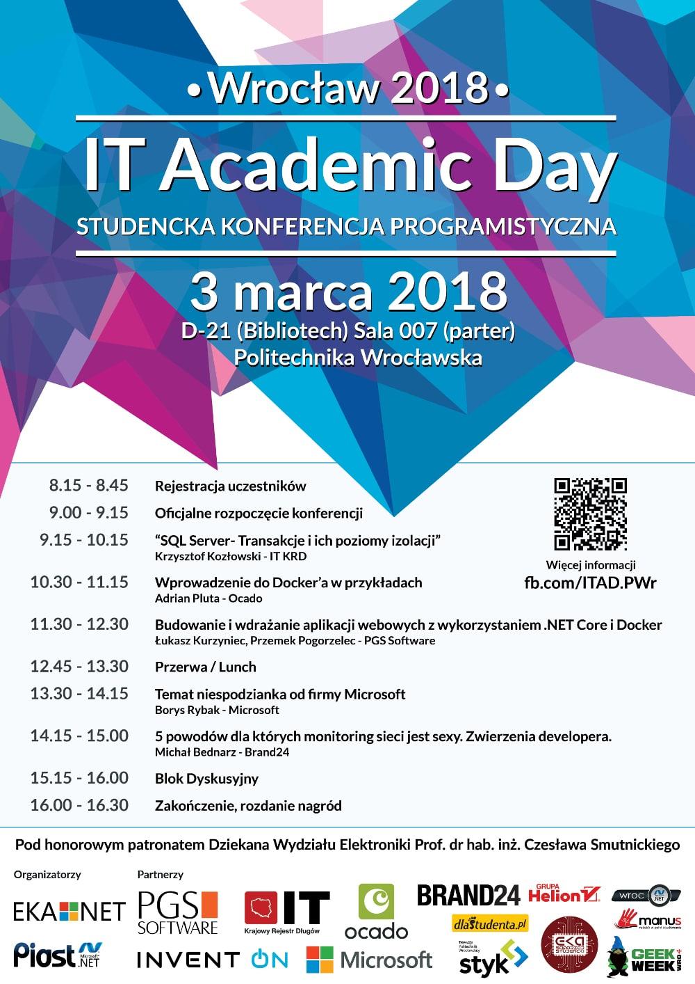 Konferencja odbędzie się 3 marca 2018 roku.