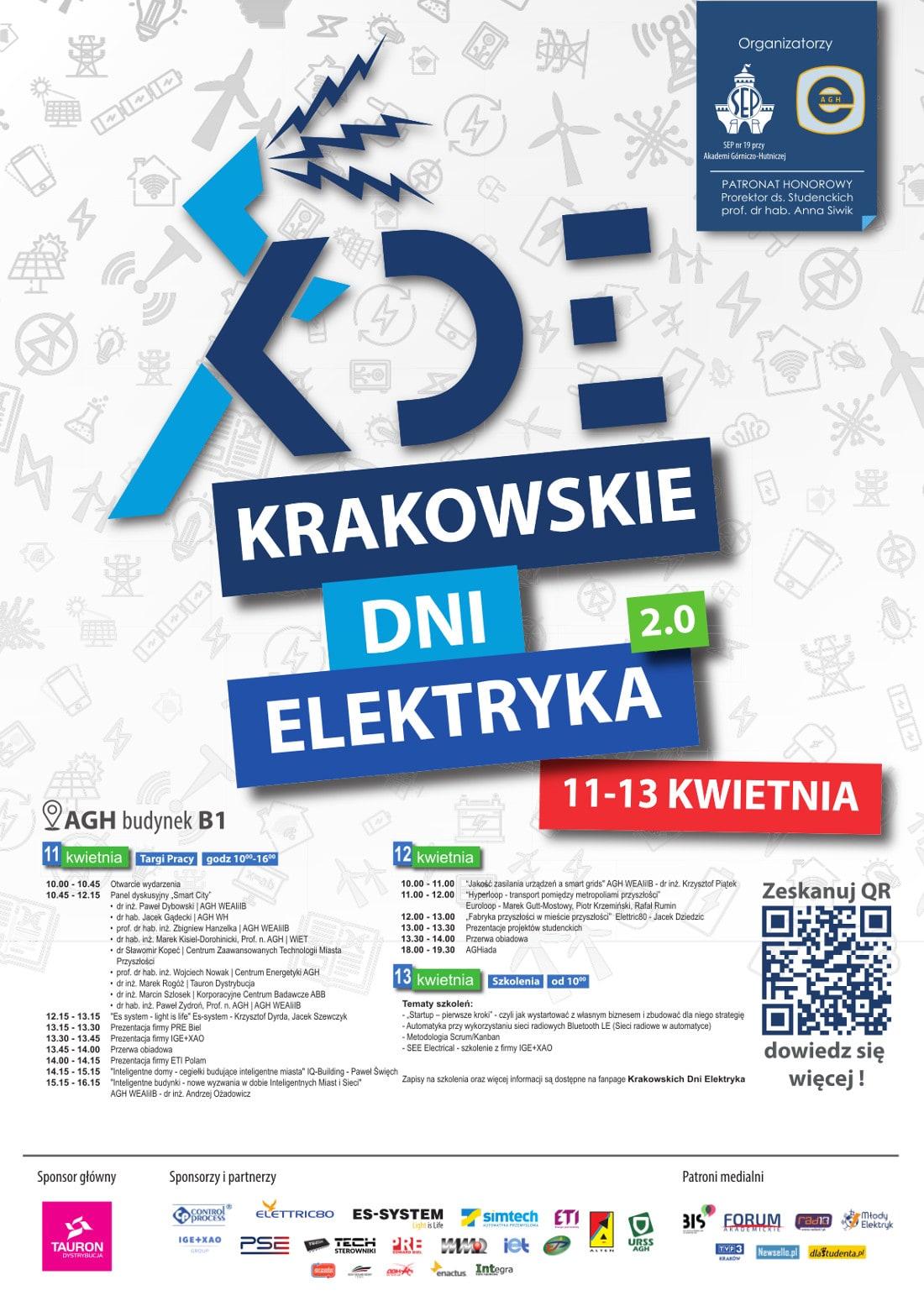 Krakowskie Dni Elektryka odbędą się w dniach 11-13 kwietnia 2018 roku.