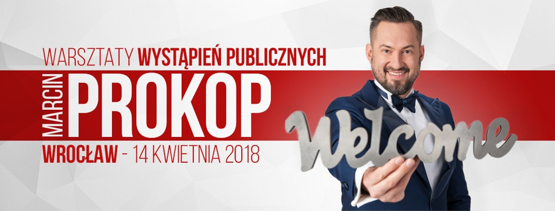 Spotkanie z Marcinem Prokopem odbędzie się 14 kwietnia 2018 roku.