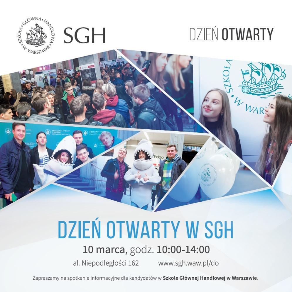Dzień Otwarty SGH odbędzie się 10 marca 2018 roku.