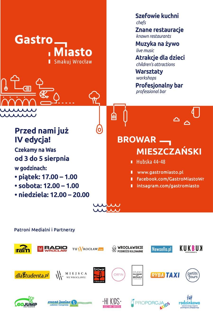 IV edycja Gastro Miasto we Wrocławiu - zobaczcie szczegóły!
