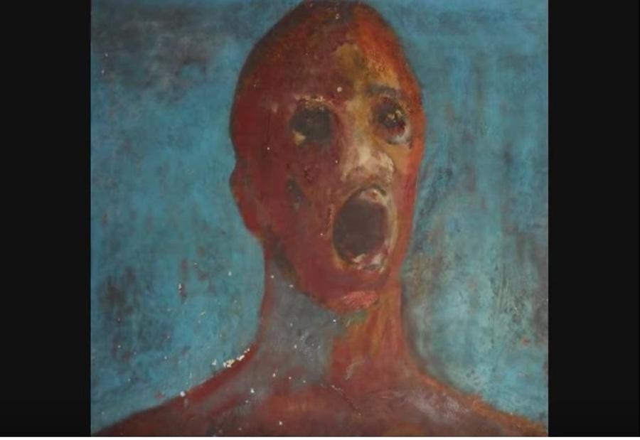 The Anguished man - opętany obraz namalowany krwią. Zobaczcie przerażające nagranie! [WIDOE]