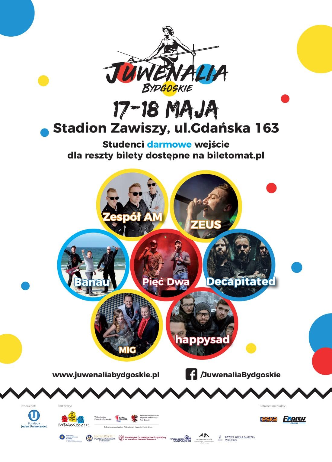 Zobacz, kto zagra podczas Juwenaliów w Bydgoszczy!