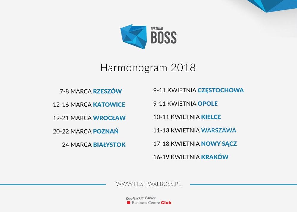 Festiwal odbędzie się w 11 polskich miastach.