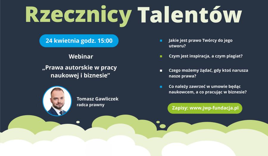 """Kolejny webinar projektu """"Rzecznicy Talentów"""" już niebawem!"""