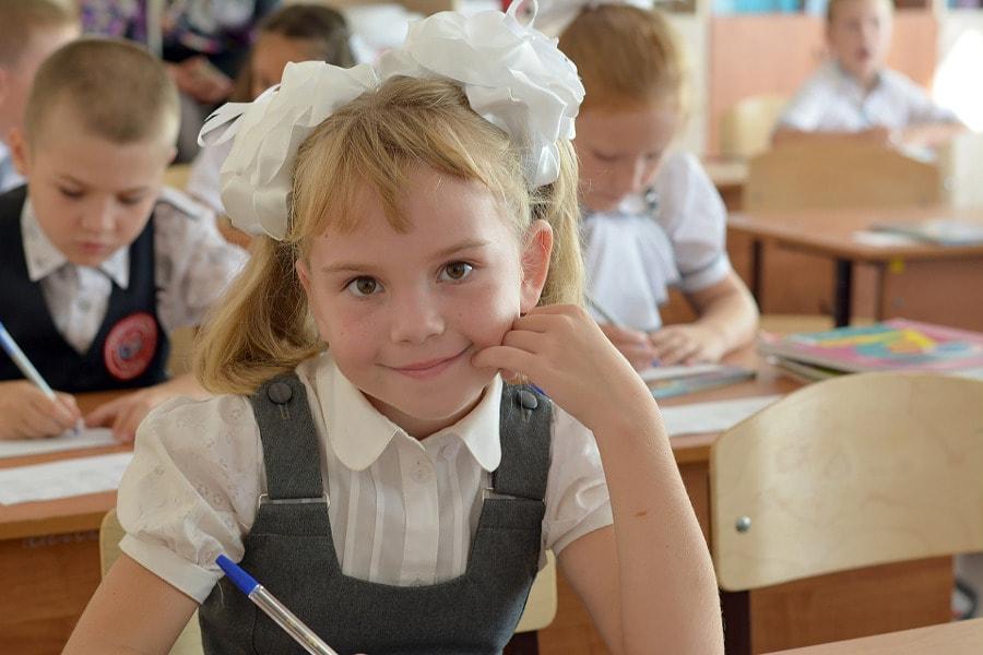 dziecko w szkole